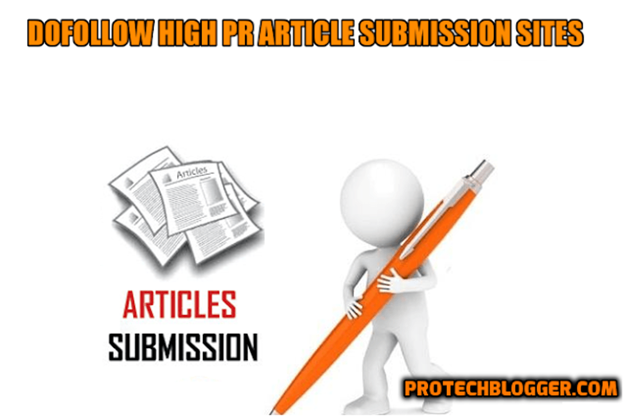 Dofollow High PR Article Submission Sites